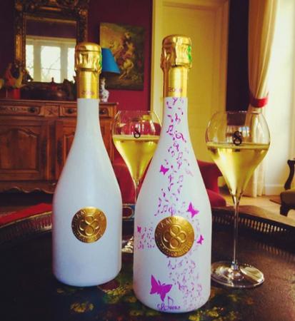 Меняющая цвет при охлаждении бутылка шампанского выходит на рынок Японии и Франции